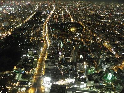 あべのハルカス60階からの夜景