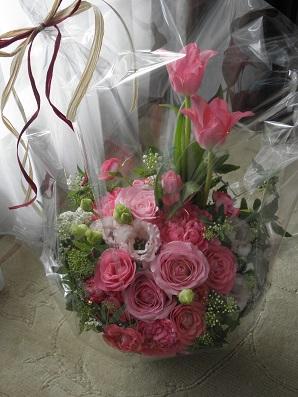 兄家族から娘に届いた春の花