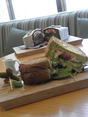 お洒落で美味しいサンドウィッチ