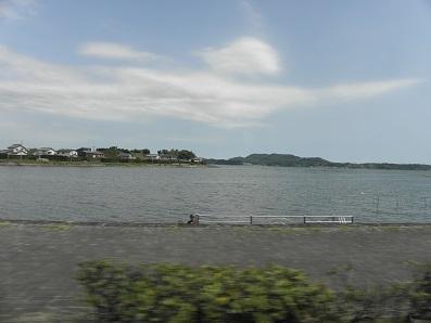 車窓から浜名湖
